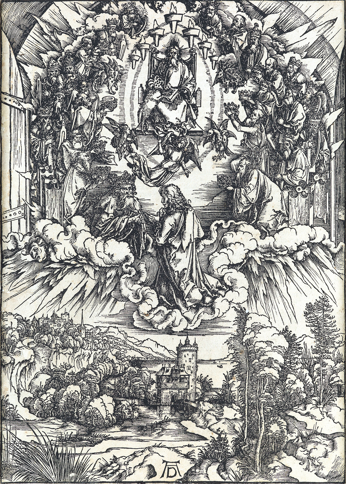 ALBRECHT-DÜRER-St-John-before-God-and-the-Elders
