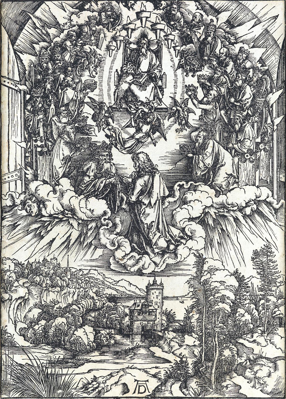 ALBRECHT-DÜRER-St-John-before-God-and-the-Elders