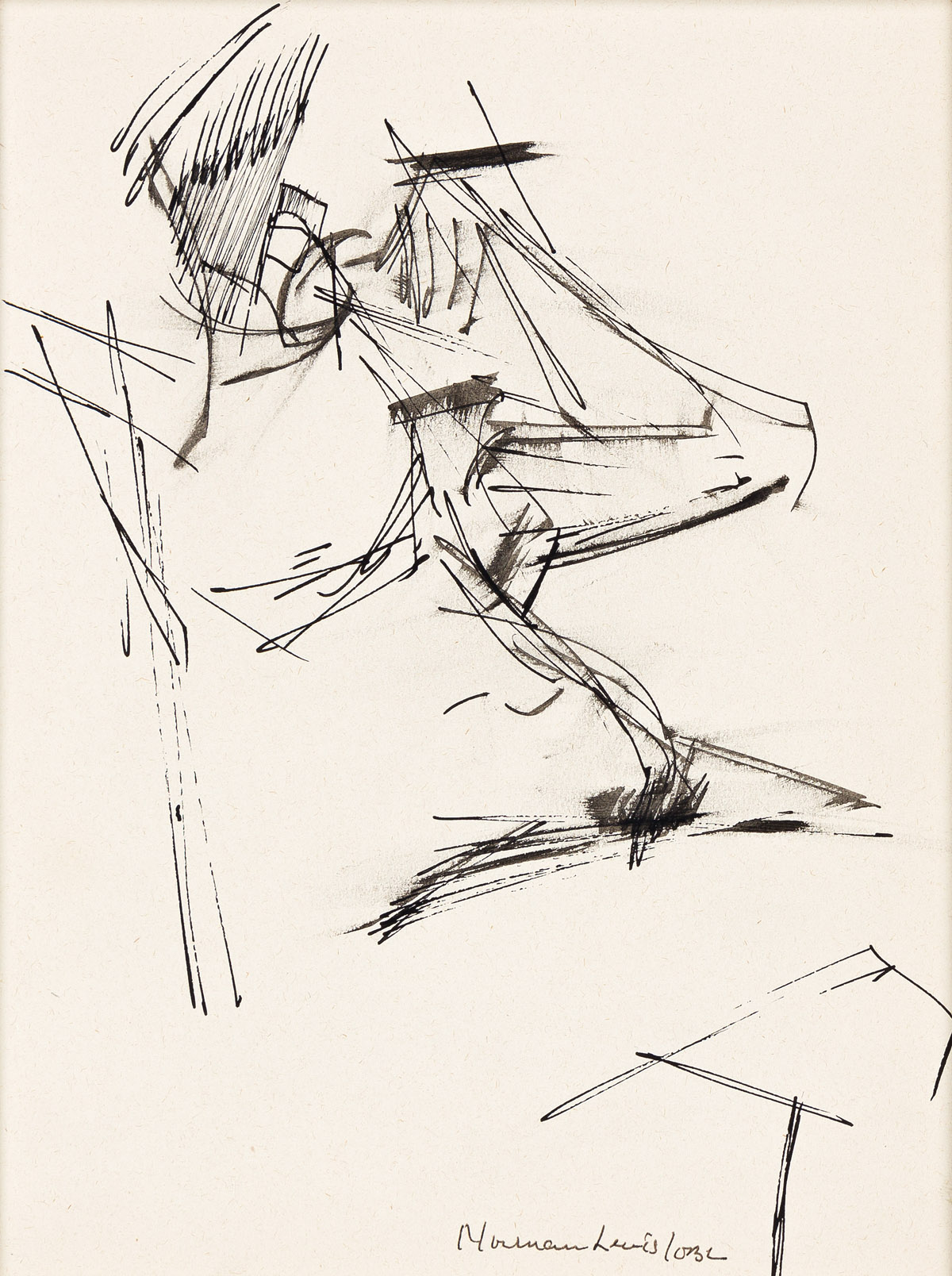 NORMAN LEWIS (1909 - 1979) Untitled (Figure Study).