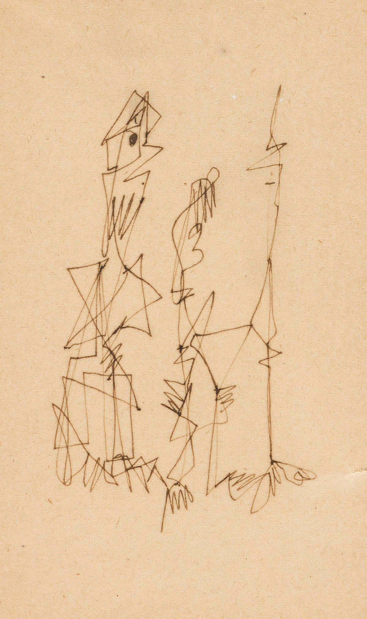 NORMAN LEWIS (1909 - 1979) Untitled (Three Figures).