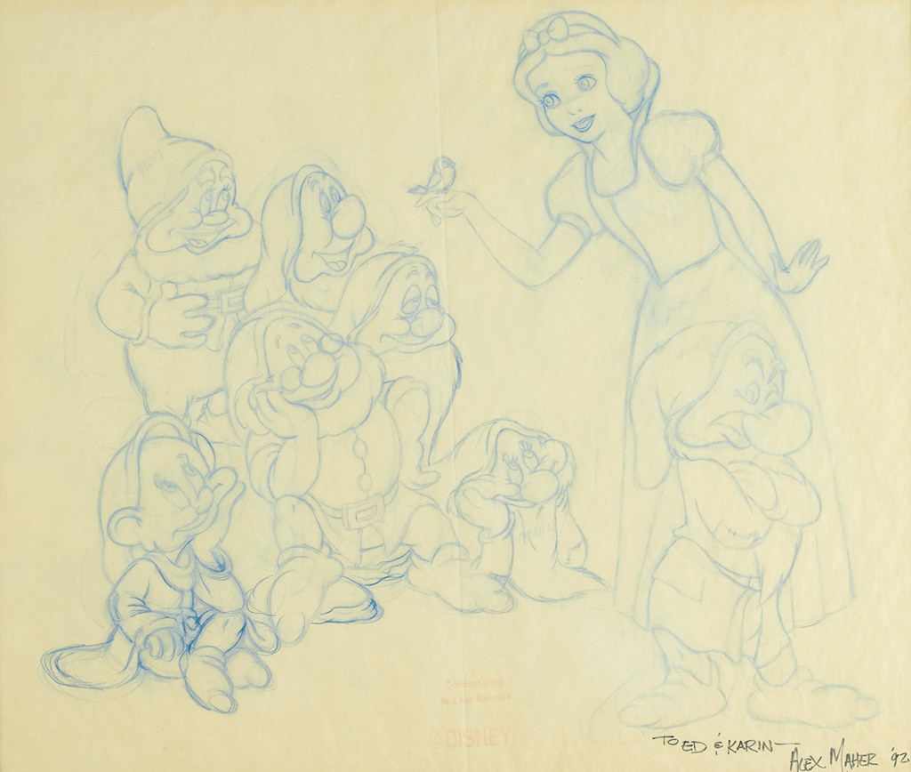 (WALT DISNEY STUDIOS.) Snow White and the Seven Dwarfs.
