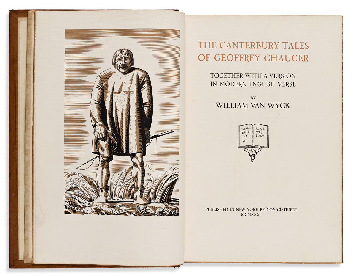Chaucer, Geoffrey (1340s-1400) The Canterbury Tales Together with a Version in Modern Verse by William van Wyck.