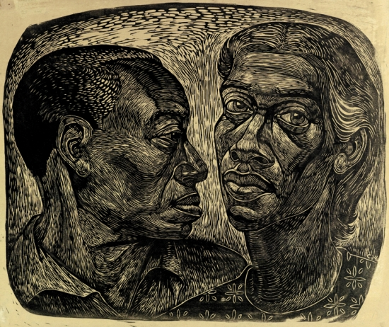 CHARLES WHITE (1918 - 1979) Man and Woman.