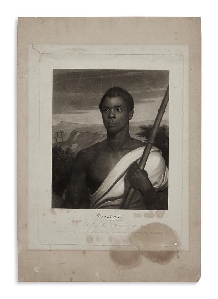 (SLAVERY-AND-ABOLITION)-Sartain-John-engraver-Cinque-the-Chi