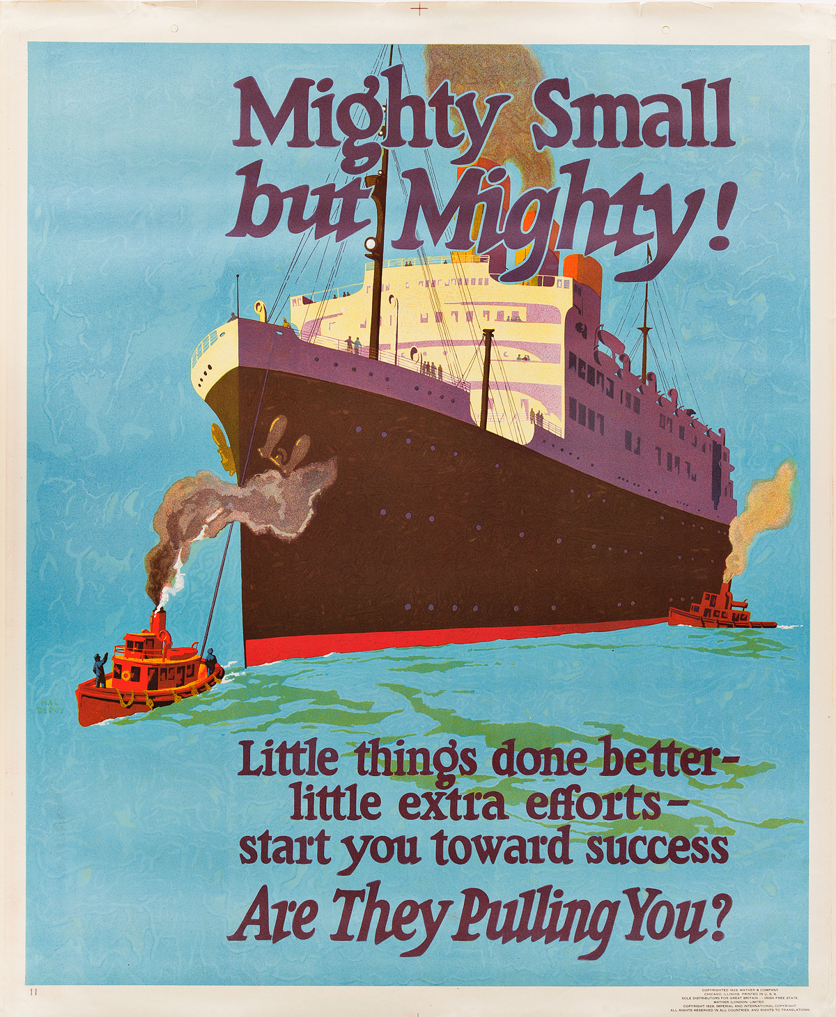 DESIGNER-UNKNOWN-MIGHTY-SMALL-BUT-MIGHTY--ARE-THEY-PULLING-Y