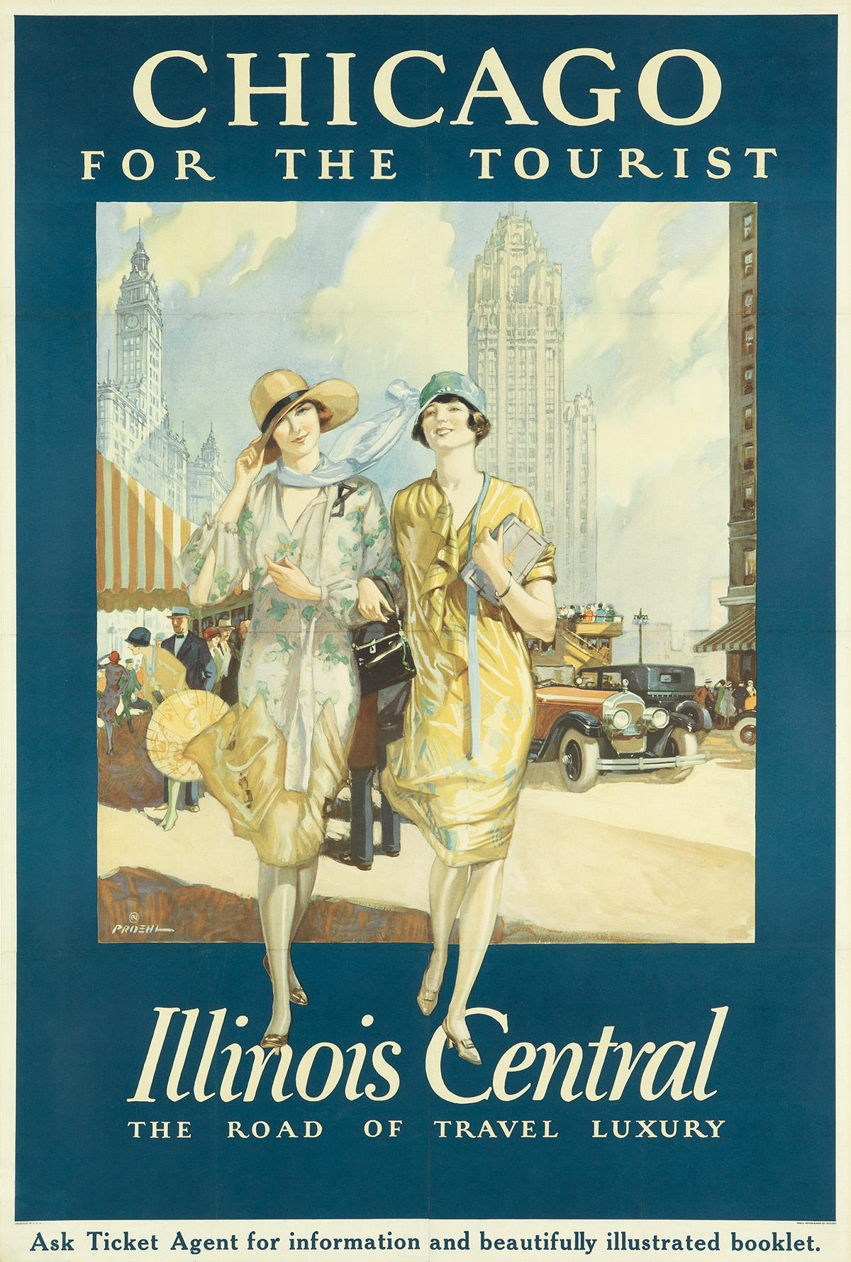 PAUL-PROEHL-(1887-1965)-CHICAGO-FOR-THE-TOURIST--ILLINOIS-CE
