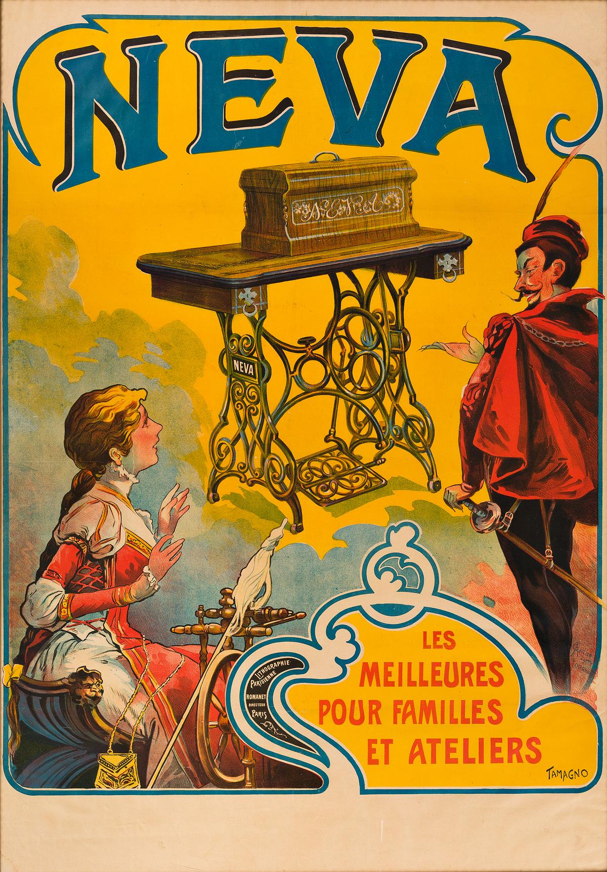 FRANCISCO-TAMAGNO-(1851-1933)-NEVA--LES-MEILLEURES-POUR-FAMILLES-ET-ATELIERS-Circa-1890-53x37-inches-135x94-cm