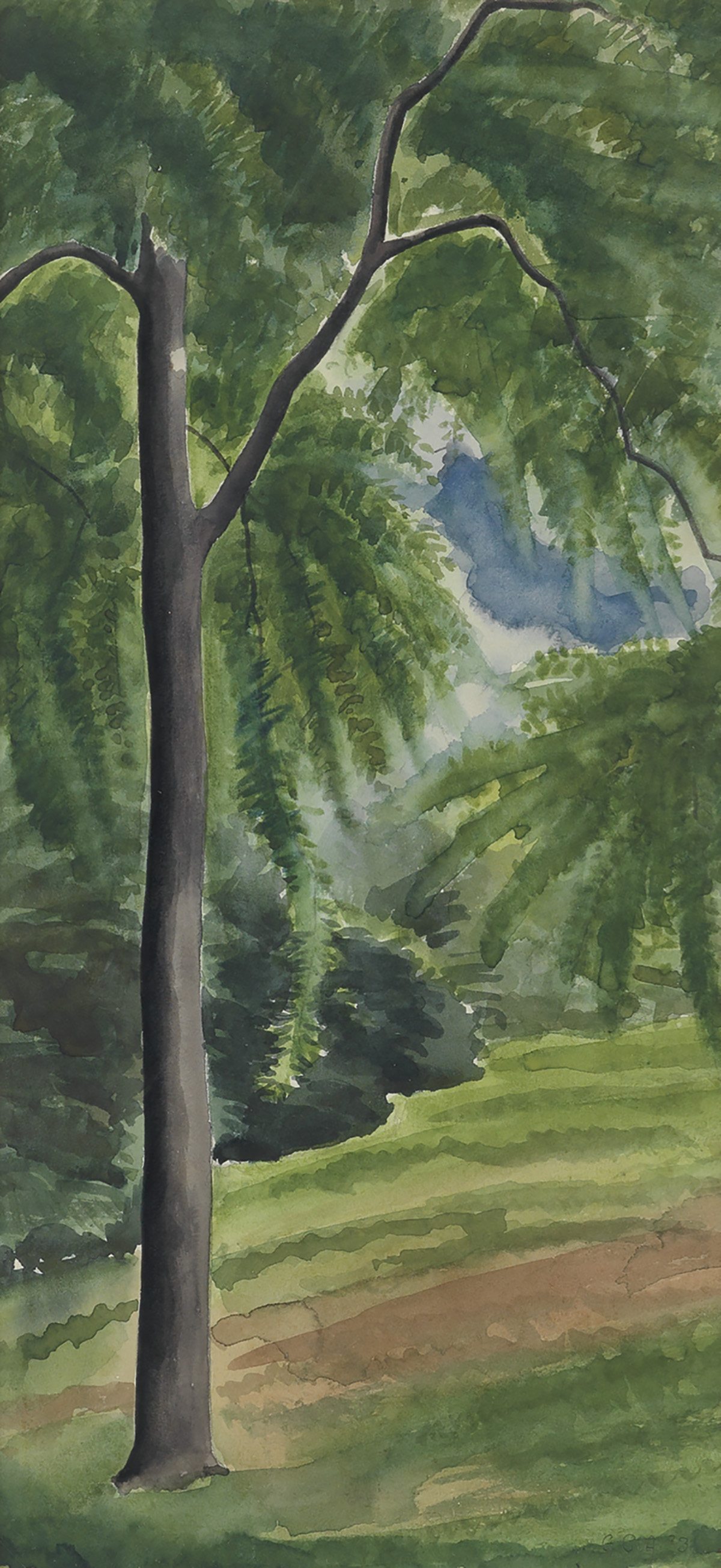 GEORGE-C-AULT-Landscape-with-a-Tall-Tree