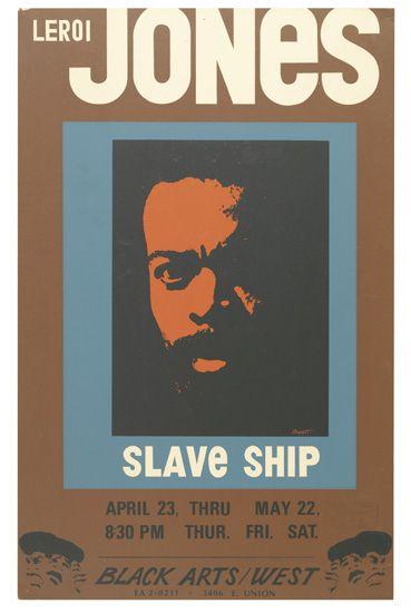 (THEATRE.) JONES, LEROI [aka AMIRI BARAKA.] Slave Ship.