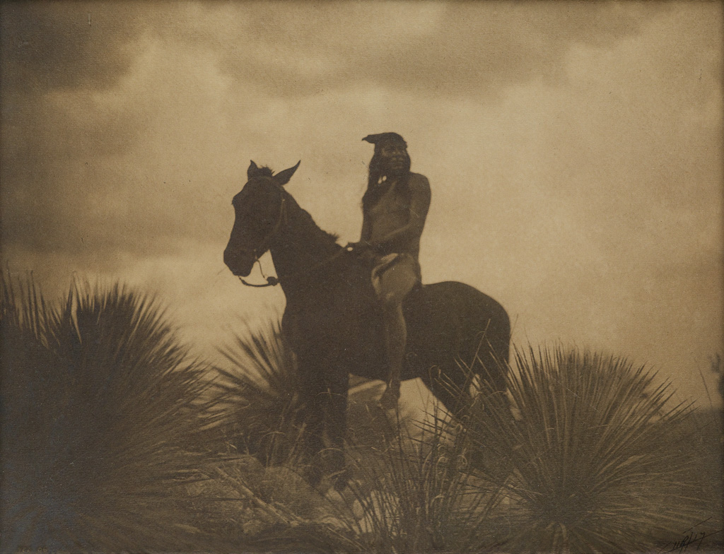 EDWARD S. CURTIS (1868-1952) The Scout, Apache.