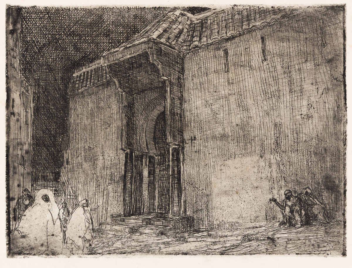 HENRY OSSAWA TANNER (1859 -1937) Mosque, Tangier.