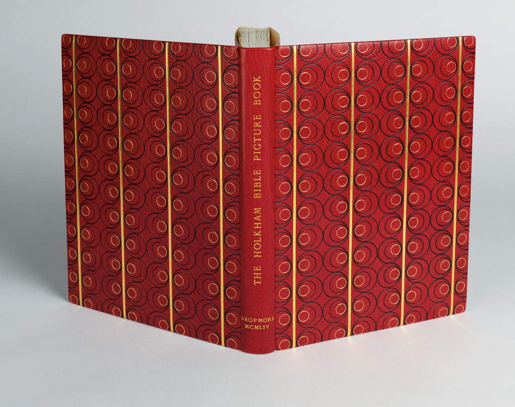 (BOOK-ARTS--FINE-BINDINGS)-Hassal-W-O-The-Holkham-Bible-Pict