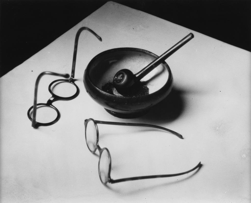 ANDRÉ KERTÉSZ (1894-1985) Mondrians Glasses and Pipe.