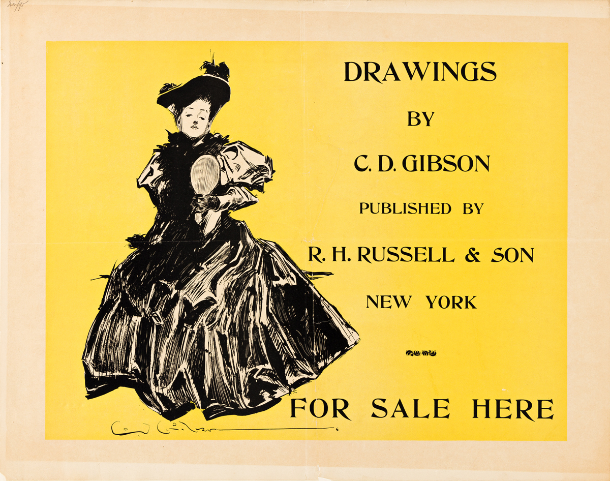 CHARLES DANA GIBSON (1867-1944).  [LITERARY ILLUSTRATIONS.] Group of 3 posters. 1890s. Sizes vary.
