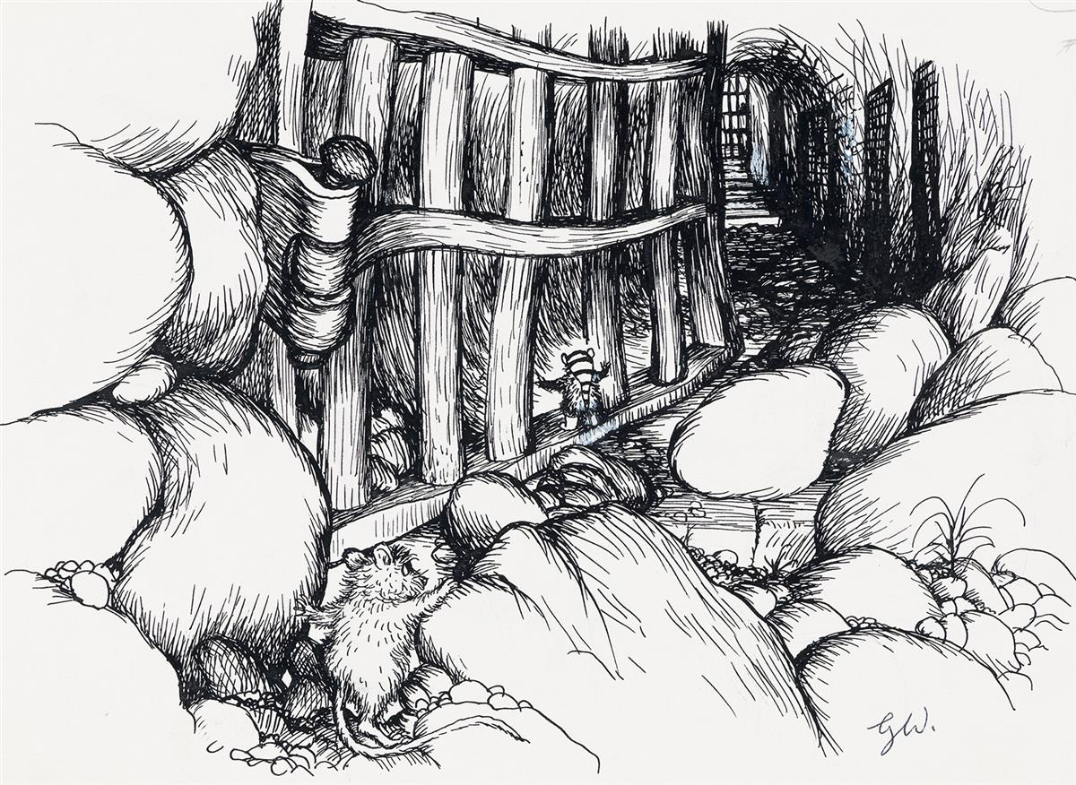 (CHILDRENS)-GARTH-WILLIAMS-Group-of-3-Drawings