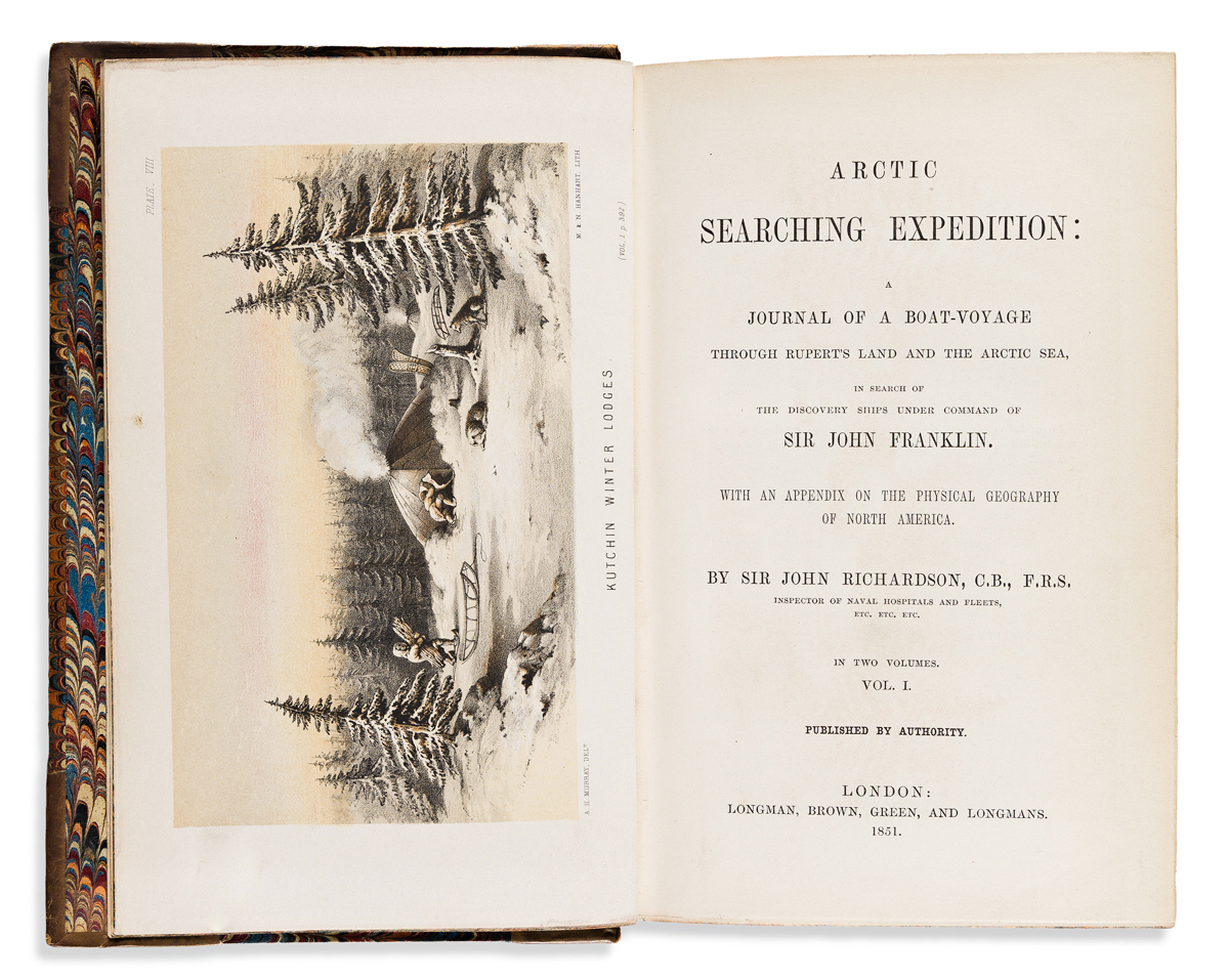 Richardson, Sir John (1787-1865) Arctic Searching Expedition: a Journal of a Boat-Voyage through Ruperts Land and the Arctic Sea.