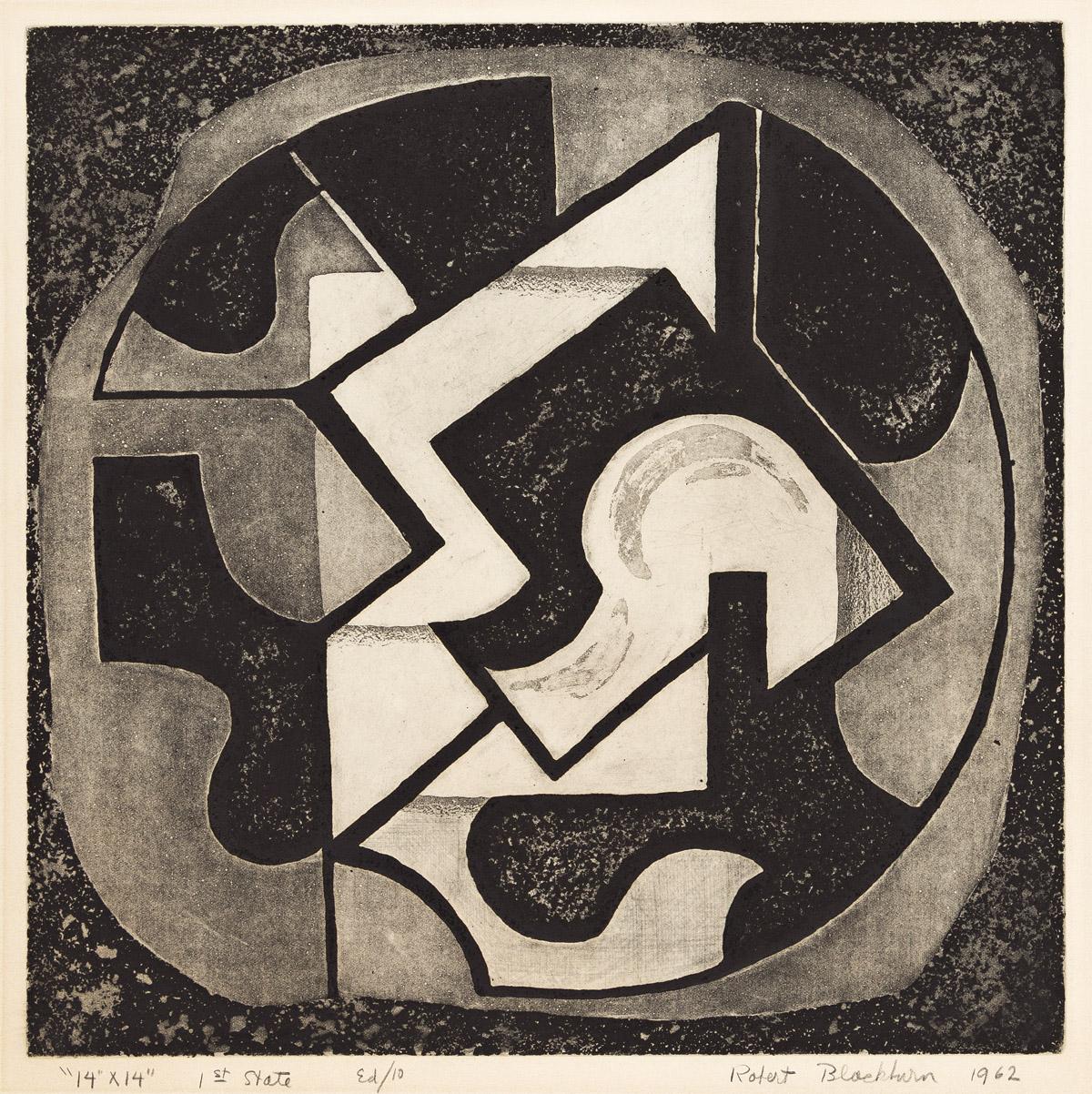 ROBERT BLACKBURN (1920 - 2003) Untitled (14 x 14).