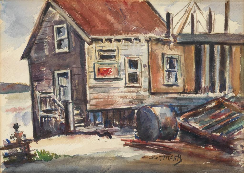 DOX THRASH (1893 - 1965) Untitled (Waterfront Cabin).