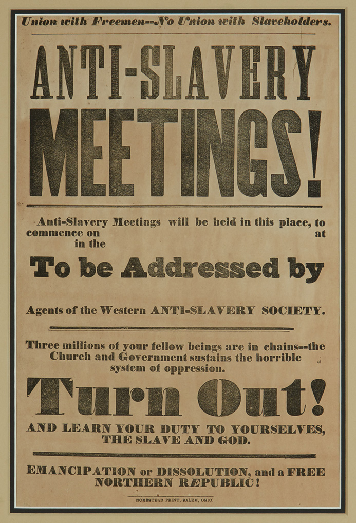 (SLAVERY AND ABOLITION.) Union with Freemen--No Union with Slaveholders. Anti-Slavery Meetings!