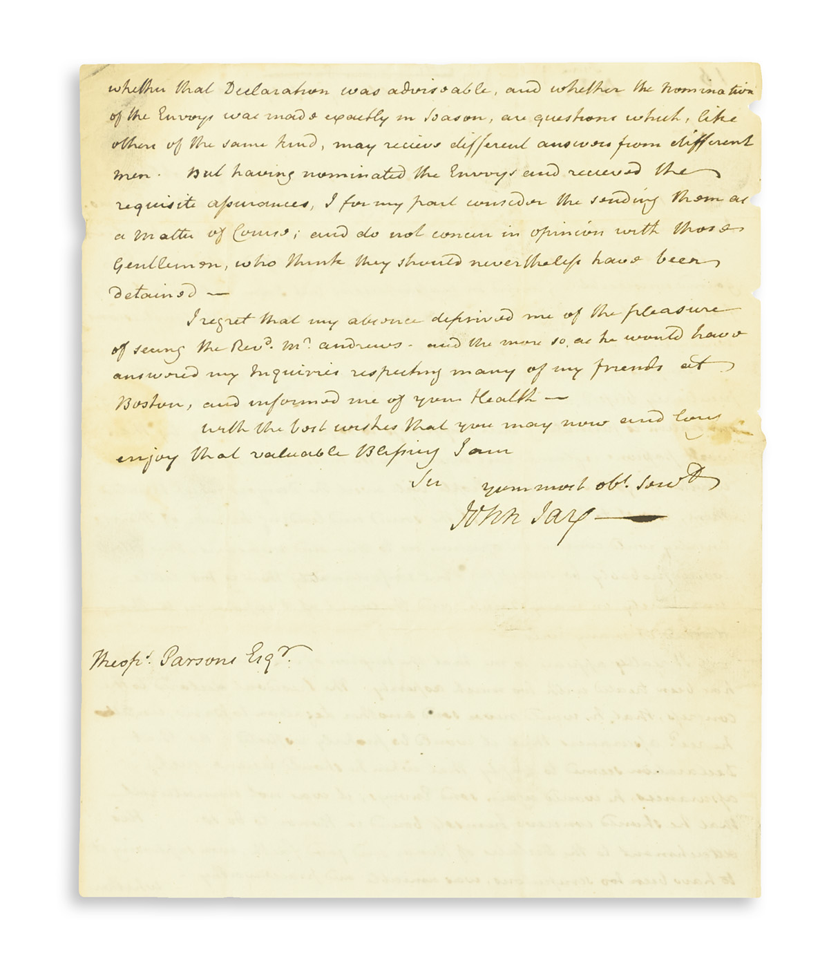 JAY-JOHN-Autograph-Letter-Signed-as-Governor-to-Theophilus-P
