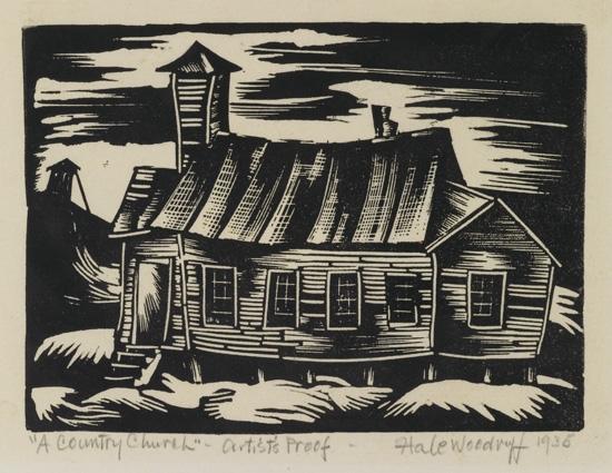 HALE WOODRUFF (1900 - 1980) A Country Church.