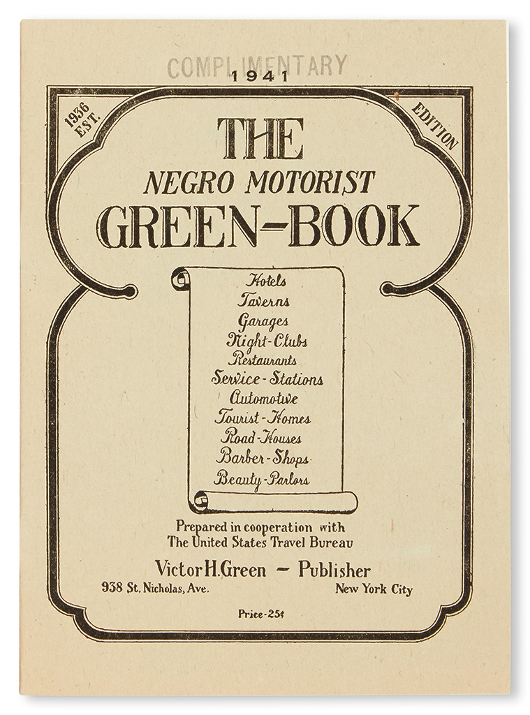 (TRAVEL.) GREEN, VICTOR H. The Negro Motorist Green-Book for 1941.