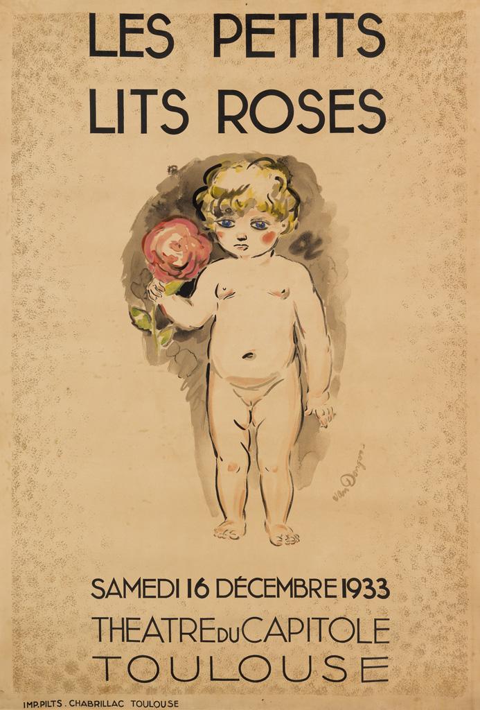 KEES-VAN-DONGEN-(1877-1968)-LES-PETITS-LITS-ROSES-1933-50x34