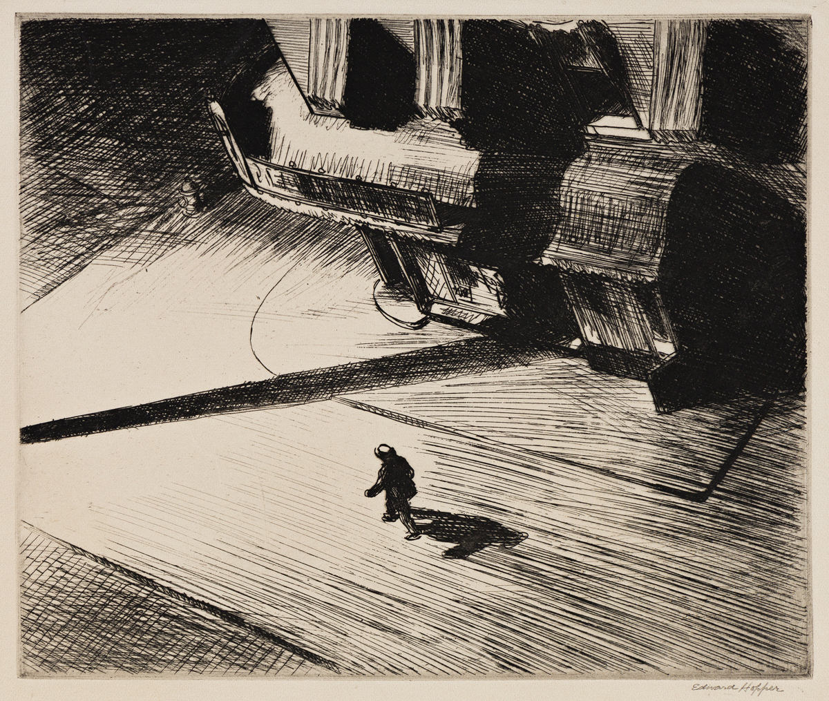 EDWARD HOPPER Night Shadows.