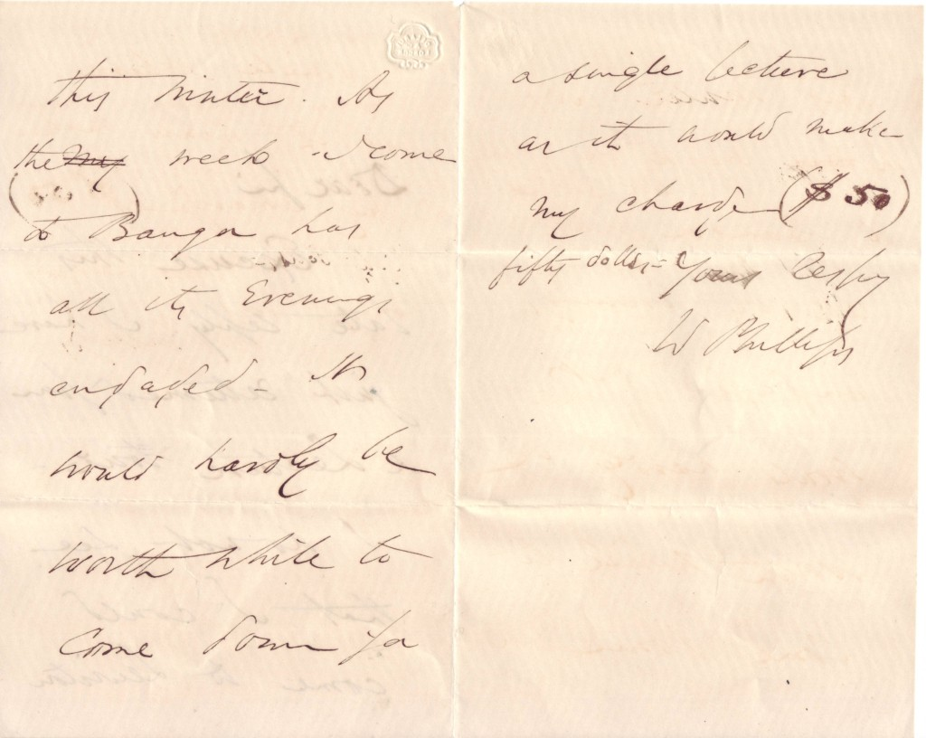 PHILLIPS-WENDELL-Autograph-Letter-Signed-W-Phillips-to-Dear-