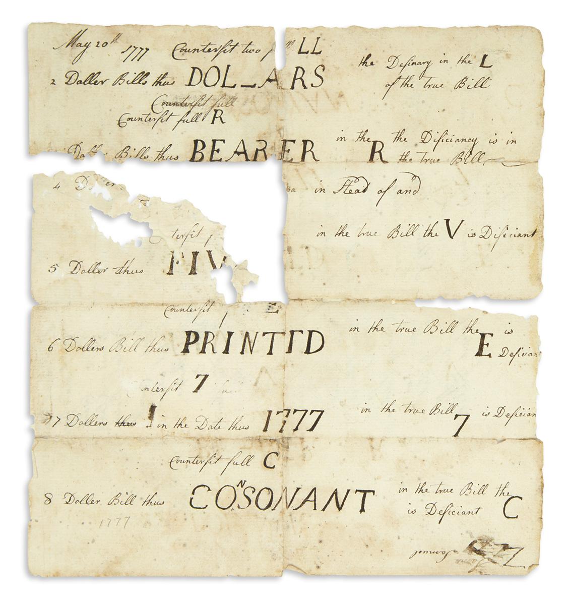 (AMERICAN-REVOLUTION--1777)-Manuscript-for-the-detection-of-