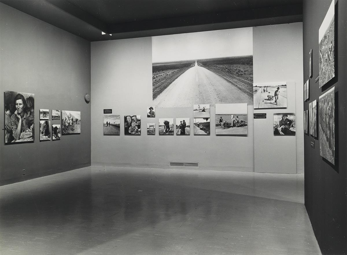 (THE BITTER YEARS) Archive with 20 photographs documenting the seminal F.S.A. exhibition entitled The Bitter Years, held at the Museum