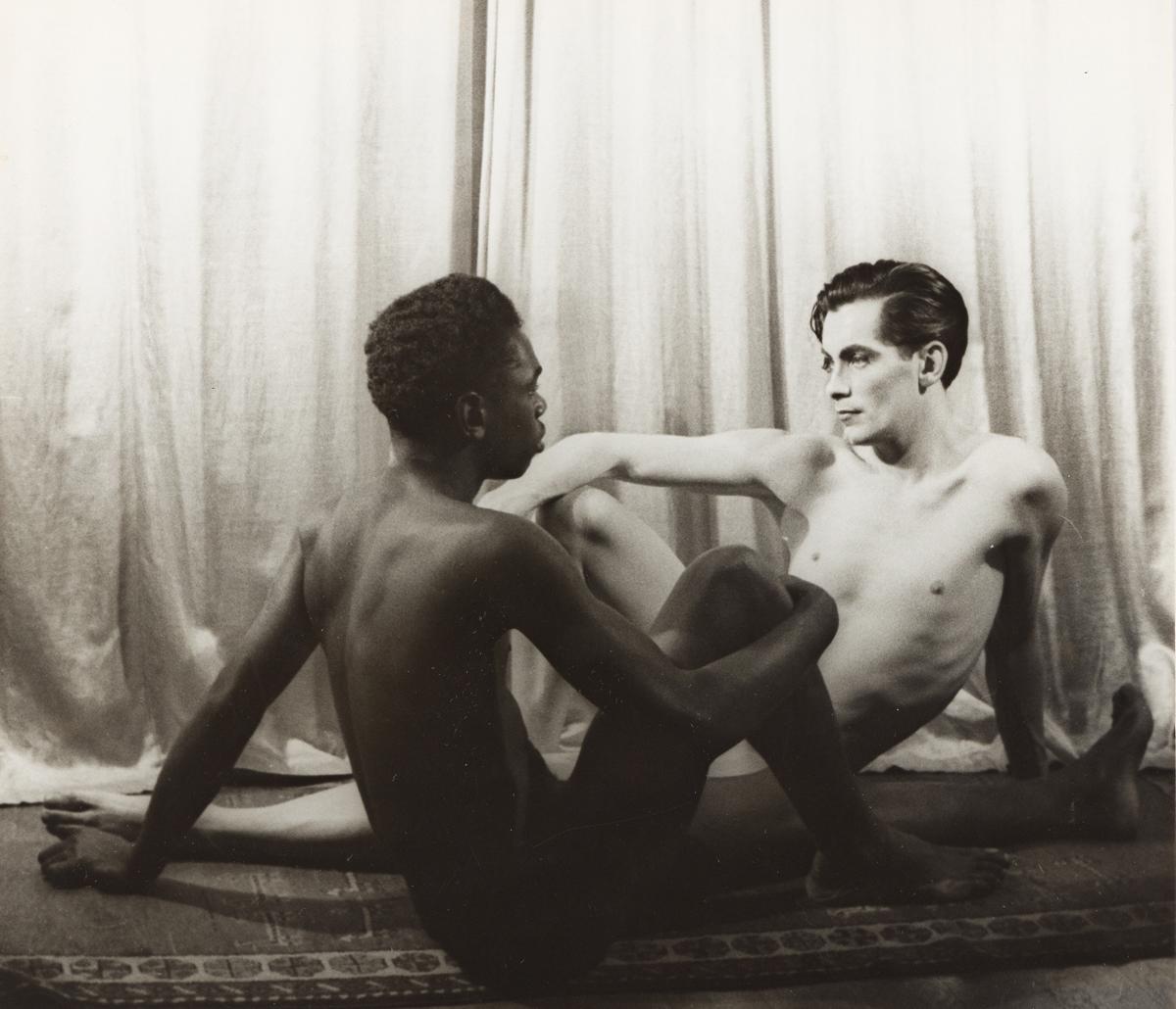 CARL VAN VECHTEN (1880-1964) Two nude figures, seated (Hugh Laing and Allen Meadows).