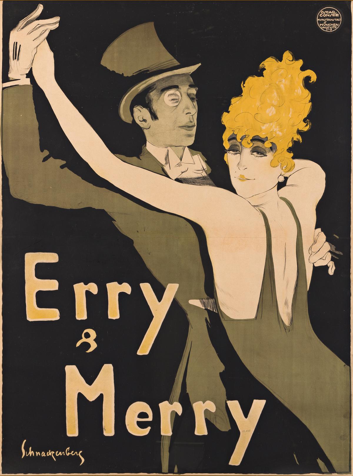 WALTER SCHNACKENBERG (1880-1961).  ERRY & MERRY. 1912. 49x37 inches, 124½x94 cm. Oscar Consée, Munich.