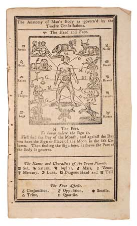 (ALMANACS.) Saunders, Richard. Poor Richard Improved: Being an Almanack and Ephemeris . . . for the Year of our Lord 1783.