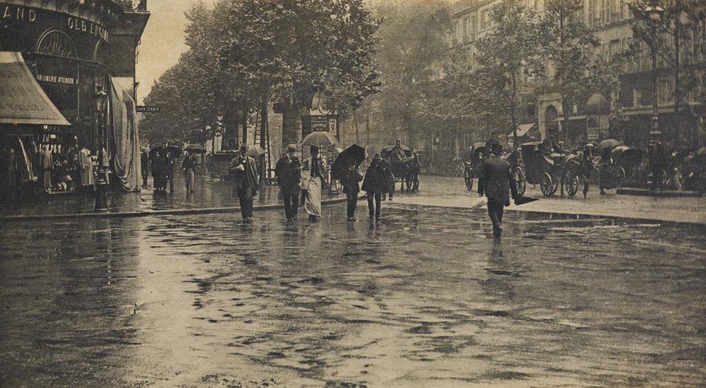 ALFRED STIEGLITZ (1864-1946) Wet Day on the Boulevard, Paris.