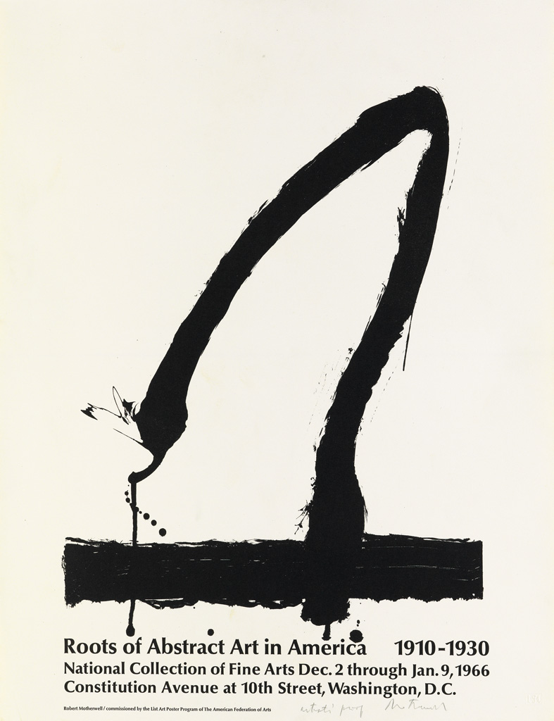 ROBERT MOTHERWELL (1915-1971). ROOTS OF ABSTRACT ART IN AMERICA. 1965. 22x16 inches, 56x42 cm. Irwin Hollander, New York.