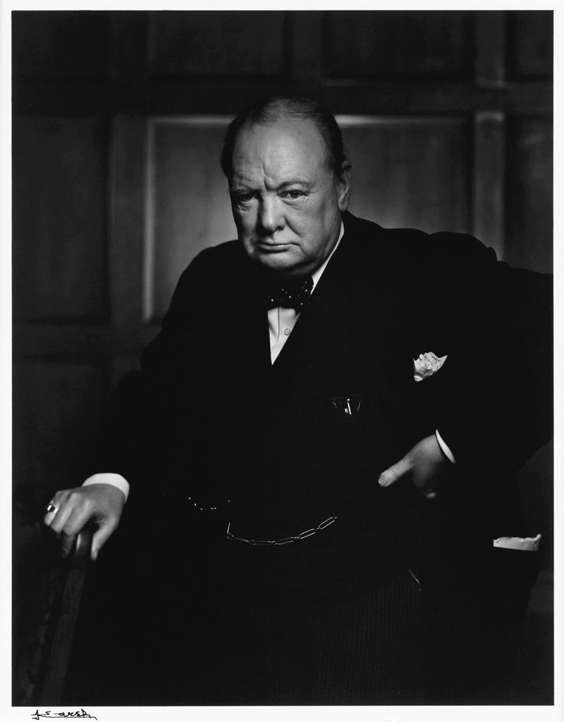 YOUSUF KARSH (1908-2002) Winston Churchill.