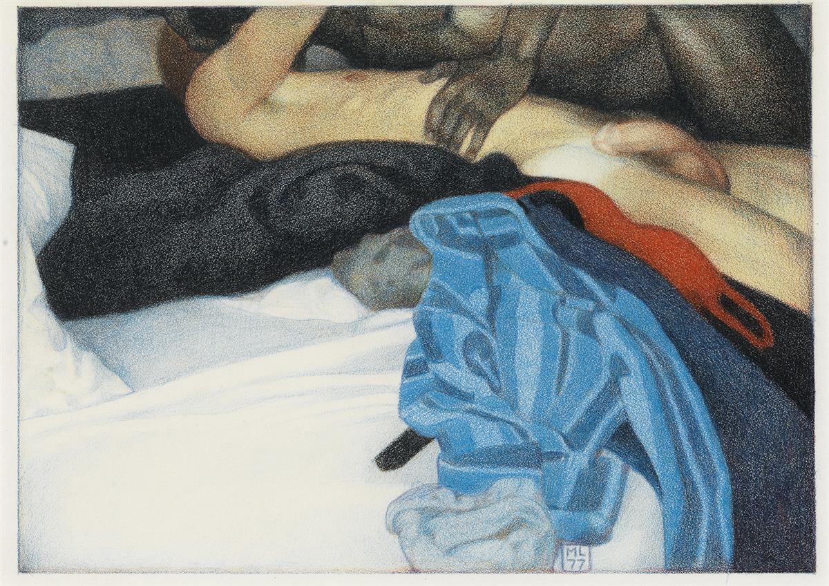 MICHAEL LEONARD (1933-)  Untitled illustration for The Joy of Gay Sex.