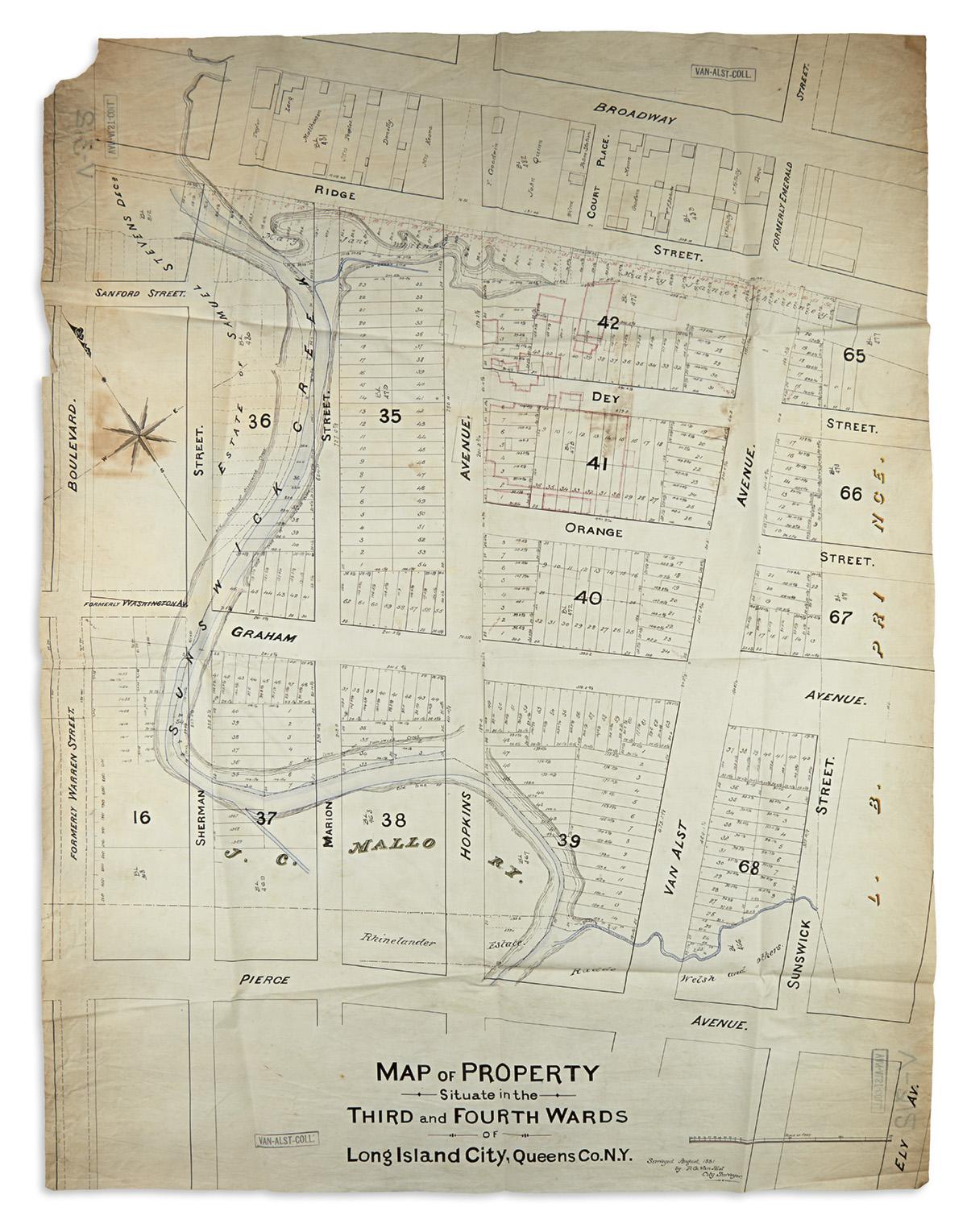 (NEW-YORK-CITY----QUEENS)-3-nineteenth-century-manuscript-su