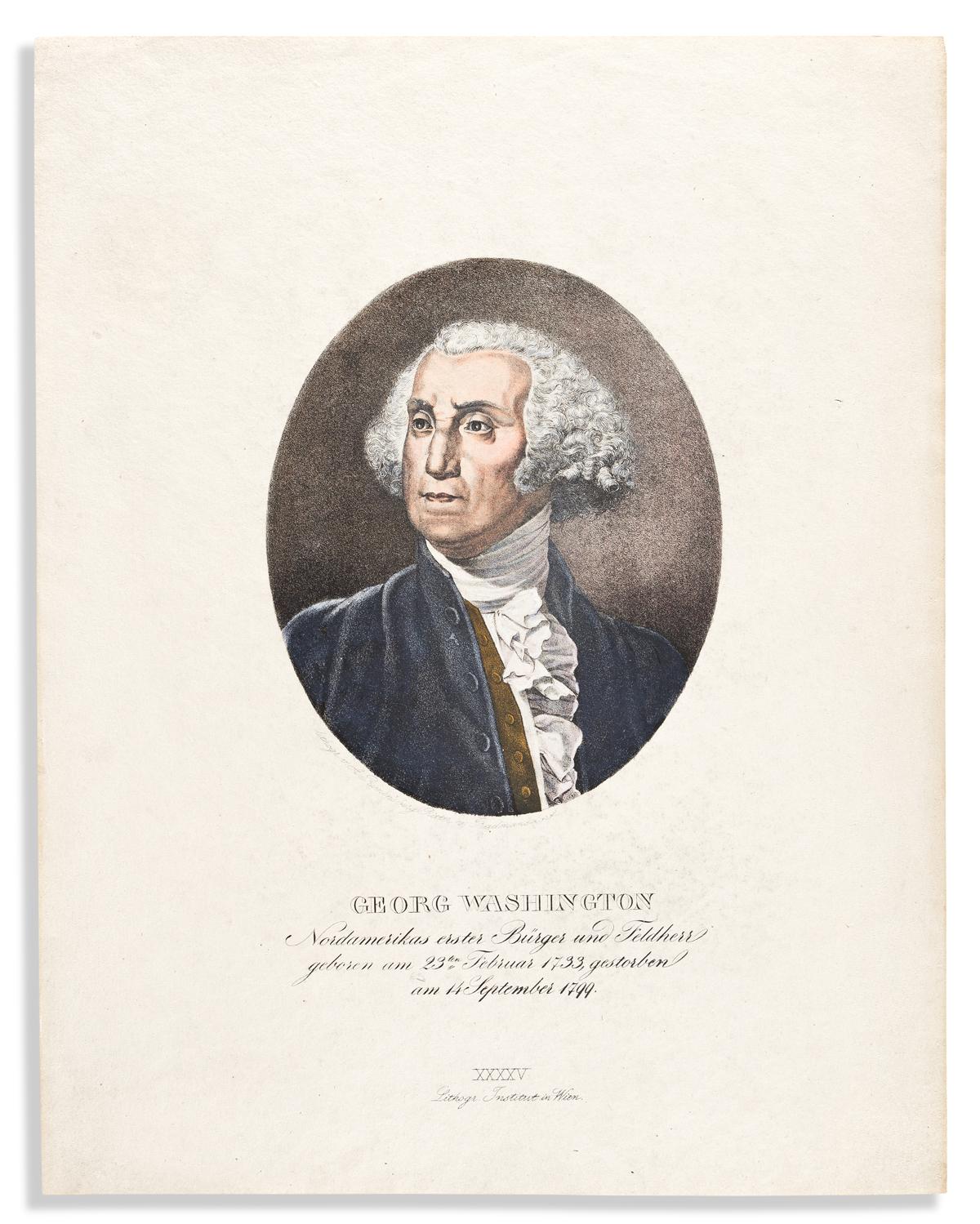 (WASHINGTON.) Albert Rimensberg Ritter von Radmansdorf. Georg Washington, Nordamerikas erster Bürger und Feldherr.
