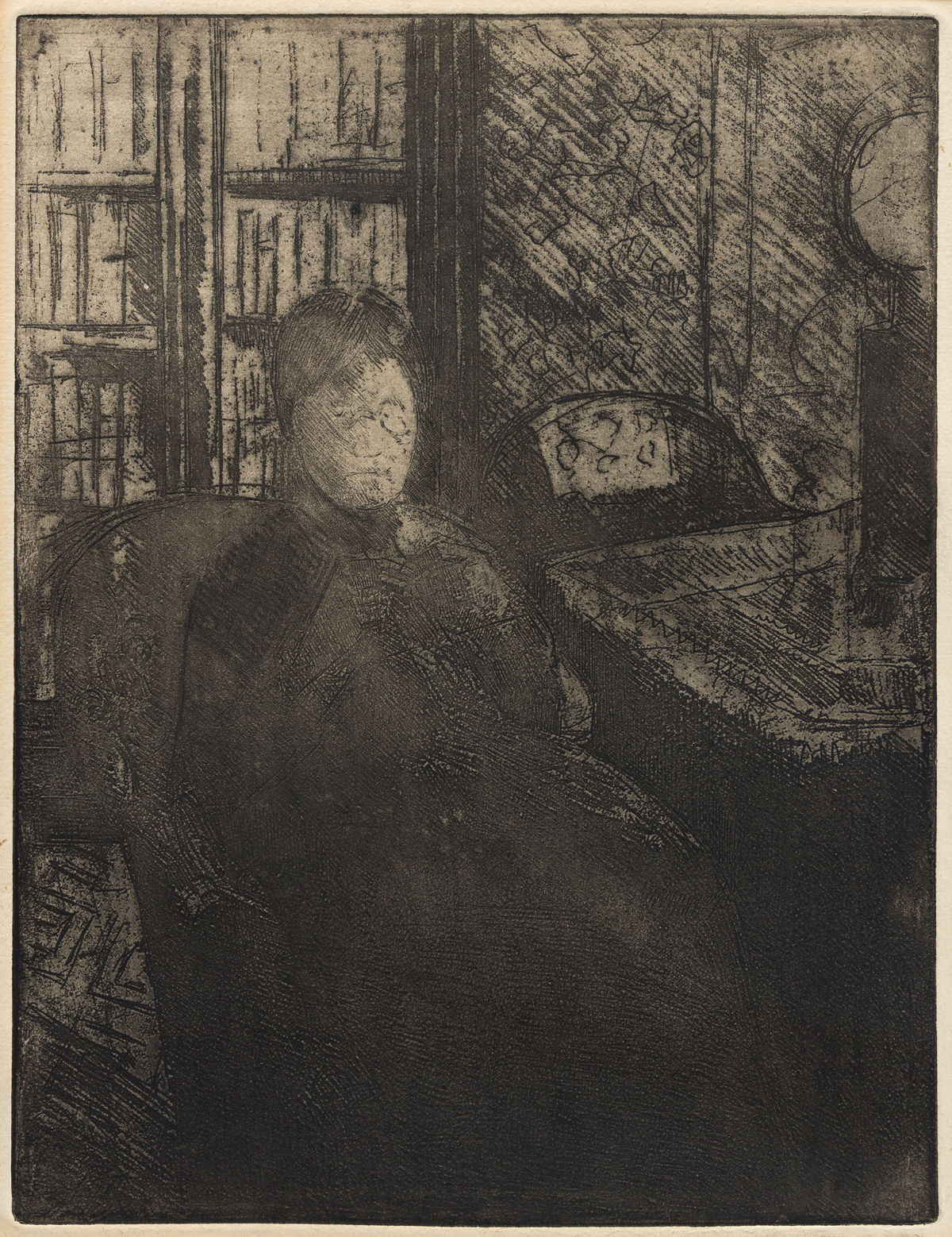 MARY CASSATT Knitting in the Glow of a Lamp.