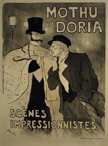 THÉOPHILE-ALEXANDRE-STEINLEN-(1859-1923)-MOTHU-ET-DORIA-1893-50-x-37-inches-Pajol--Cie-Paris