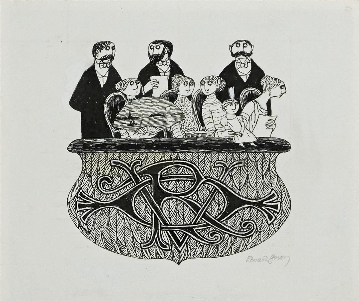 EDWARD-GOREY-Audience-Left-Wall--Audience-Right-Wall--[SET-D