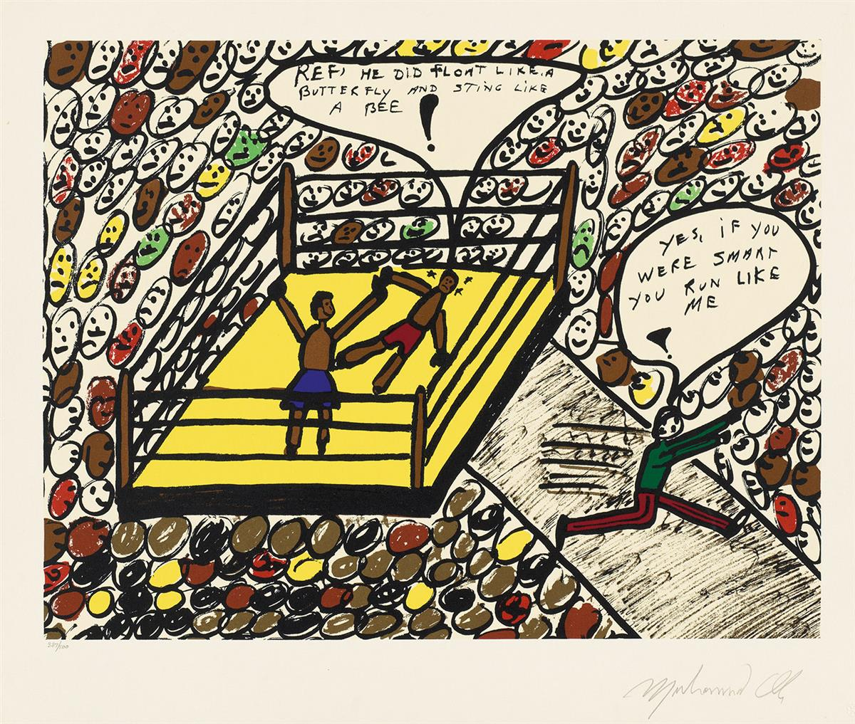 MUHAMMAD-ALI-Group-of-4-color-lithographs
