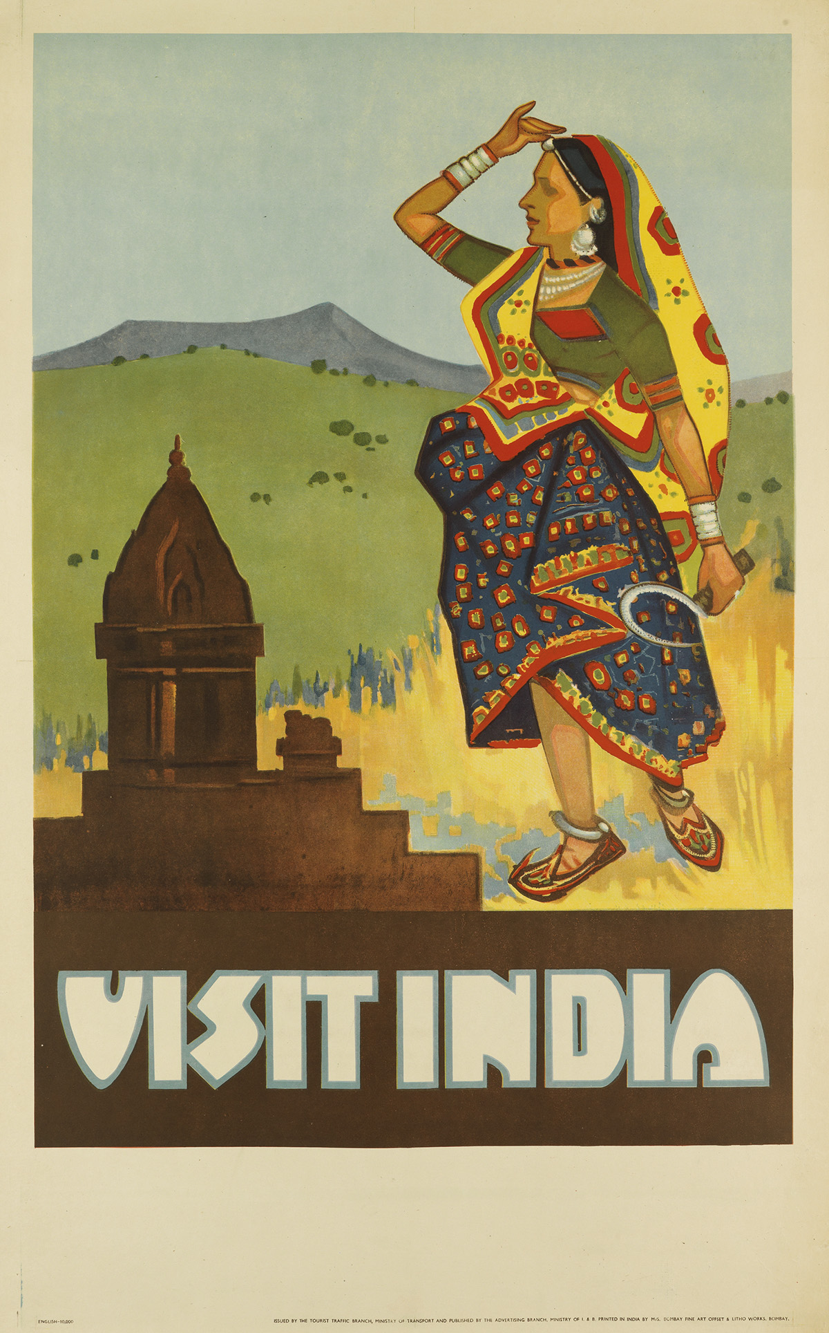 DESIGNER-UNKNOWN-VISIT-INDIA-40x25-inches-103x63-cm-Bombay-F