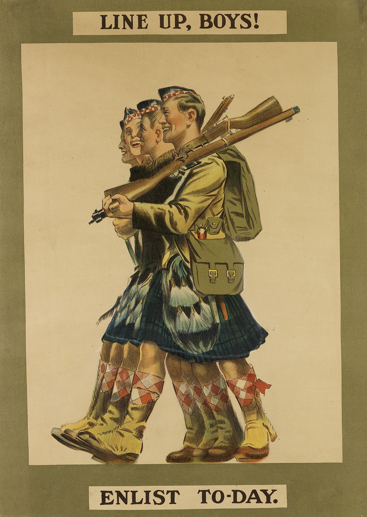 DESIGNER-UNKNOWN-LINE-UP-BOYS-ENLIST-TO---DAY-1915-27x18-inc