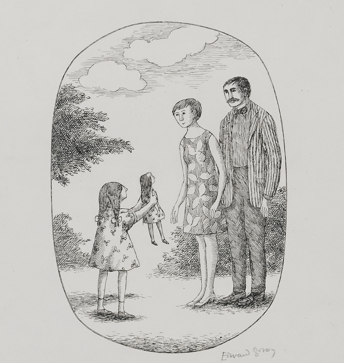EDWARD GOREY. Even before Jane hugged them hello, she showed them the doll and said, `This is Christmas-Tree June!