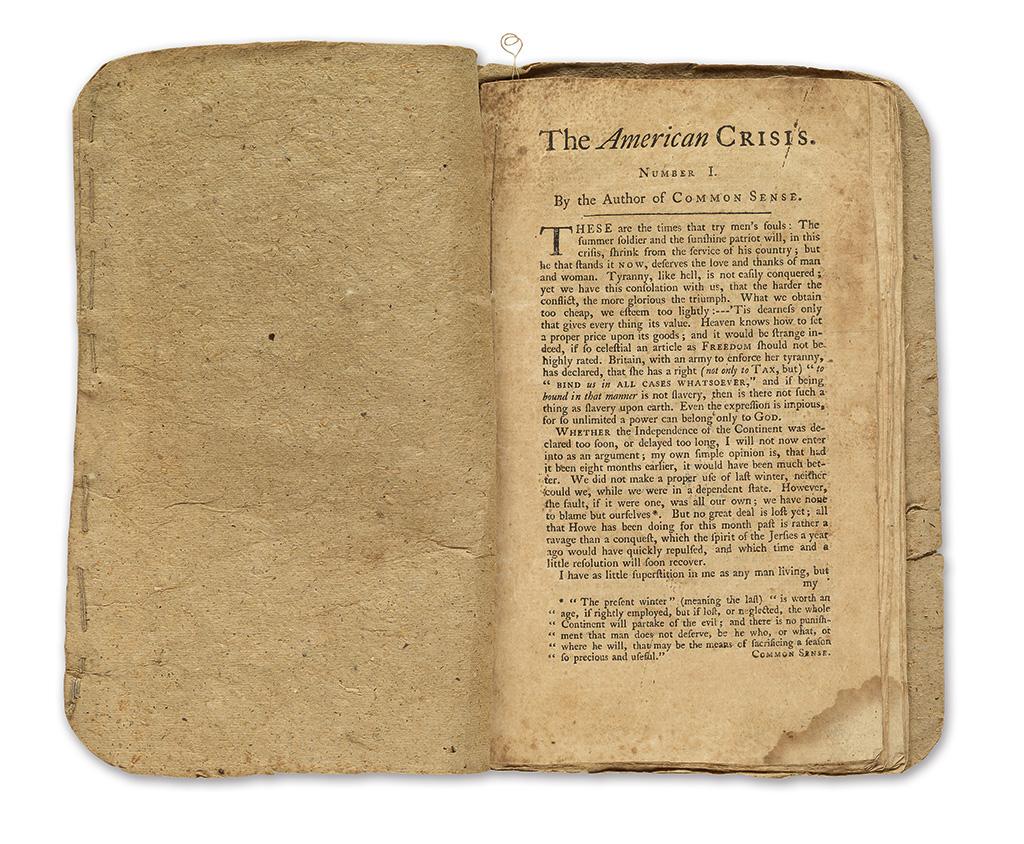 (AMERICAN REVOLUTION.) [Paine, Thomas.] The American Crisis.