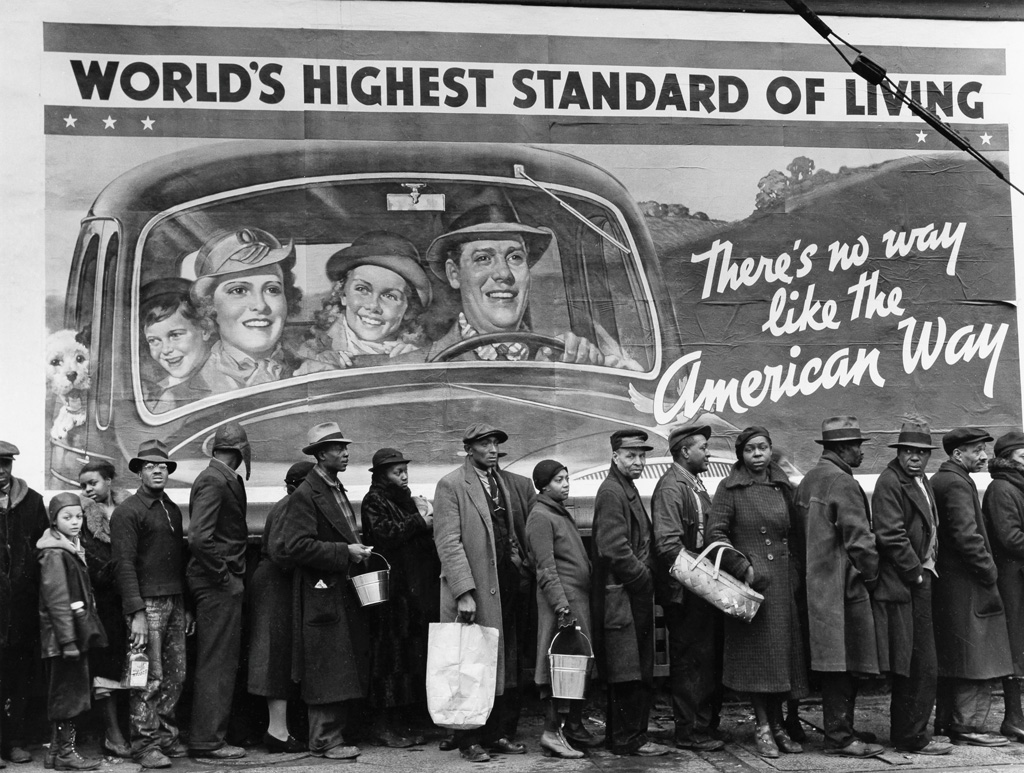 (MARGARET BOURKE-WHITE) (1904-1971) At the time of the flood, Louisville, Kentucky.