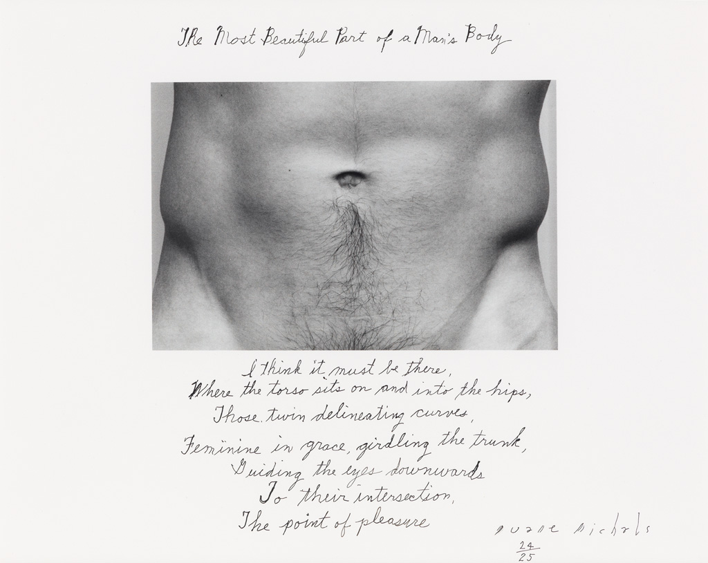 DUANE MICHALS (1932- ) The Most Beautiful Part of a Mans Body.